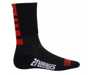21Virages winter fietssok ClimaWell rood