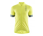 Craft Fietsshirt Heren Lime Grijs / RISE JERSEY M LIME/GRAVITY