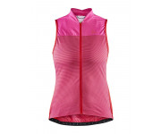 Craft Fietsshirt Mouwloos Dames Roze Rood - HALE GLOW SL JERSEY W FAME/BRIGHT RED