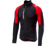 Castelli Fietsjack Heren Zwart Rood / CA Mortirolo V Jacket Black/Red