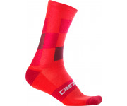 Castelli Fietssokken winter Heren Rood  / CA Diverso 2 18 Sock Red