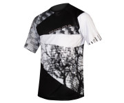 Endura Wielershirt MTB Korte Mouwen voor Heren Zwart / Singletrack Dots T LTD Black