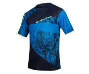 Endura Wielershirt MTB Korte Mouwen voor Heren Blauw / Singletrack Dots T LTD Navy Blue
