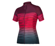 Endura Fietsshirt korte mouwen Dames Bordeaux / Dames PT Wave S/S Shirt LTD - Mulberry