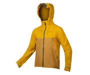 Endura Fietsjack MTB waterdicht Heren Mosterd / MT500 Waterproof II Jas: Mosterd