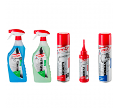 Cyclon Seizoenstart race KIT ; Bionet 750ml ,  Bike cleaner 750ml, Cyclon All Weather Spray 250ml, Wax lube 125ml, Instant Polish Wax 250ml
