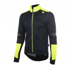 Rogelli Force plus Fietsjack winter Heren Zwart Fluo