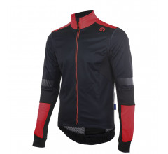 Rogelli Force plus Fietsjack winter Heren Zwart Rood