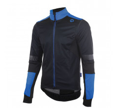 Rogelli Force plus Fietsjack winter Heren Zwart Blauw