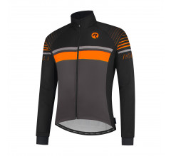 Rogelli Hero Fietsjack winter Heren Grijs Oranje