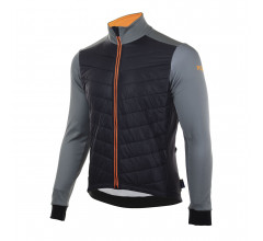 Rogelli Element Fietsjack winter Heren Zwart Grijs Oranje