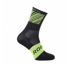 Rogelli Fietssokken zomer Unisex Zwart Fluo / Ritmo Fietssokken zomer