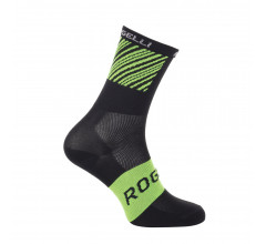 Rogelli Fietssokken zomer Unisex Zwart  Groen / Ritmo Fietssokken zomer