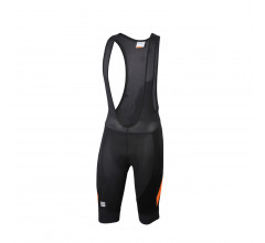 Sportful Fietsbroek kort met bretels - koersbroek  voor Heren Zwart Oranje - SF Neo Bib Short-Black/Orange Sdr
