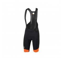 Sportful Fietsbroek kort met bretels - koersbroek  voor Heren Zwart Oranje - SF Gts Bibshort-Black Orange Sdr