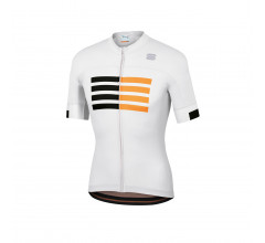 Sportful Fietsshirt Korte mouwen voor Heren Wit Zwart - SF Wire Jersey-White Black Gold