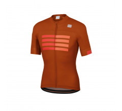 Sportful Fietsshirt Korte mouwen voor Heren Oranje Rood - SF Wire Jersey-Sienna F Red Orange
