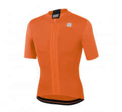 Sportful Fietsshirt Korte mouwen voor Heren Oranje Zwart - SF Strike Short Sleeve Jersey-Orange Sdr Black