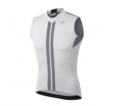 Sportful Fietsshirt Mouwloos voor Heren Wit Zwart - SF Strike Sleeveless Jersey-White Black