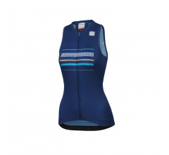 Sportful Fietsshirt Mouwloos voor Dames Blauw - SF Diva W Sleeveless Jersey-Blue Twilight