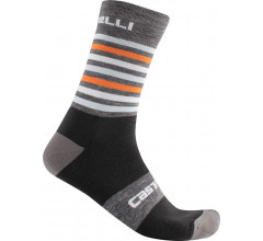 Castelli Fietssokken winter Unisex Grijs Oranje - Gregge 15 Sock Dark Gray Orange