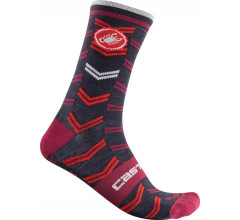 Castelli Fietssokken winter Unisex Blauw - Transition 18 Sock Savile Blue