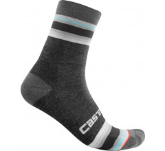 Castelli Fietssokken winter Dames Grijs - Striscia 13 Sock Dark Gray