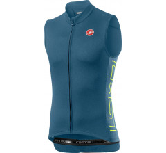 Castelli Fietsshirt Heren Blauw - CA Entrata V Sleeveless Light Steel Blue