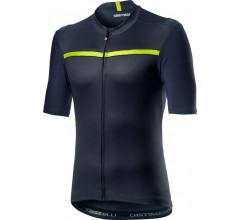 Castelli Fietsshirt Heren Blauw - CA Unlimited Jersey Dark Steel Blue