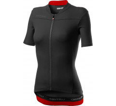 Castelli Fietsshirt Dames Zwart Rood - CA Anima 3 Jersey Light Black/Red