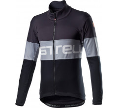 Castelli Fietsjack Lange mouwen Heren Grijs Grijs - Prologo Jacket Dark Gray Vortex Gray Light Bl