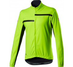 Castelli Fietsjack Lange mouwen Heren Fluo - Transition 2 Jacket Yellow Fluo