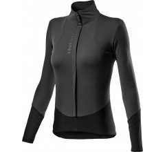 Castelli Fietsshirt Lange mouwen Rain or Shine Dames Grijs Zwart - Beta RoS W Jacket Dark Gray Black