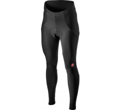 Castelli Fietsbroek lang zonder bretels Rain or Shine Dames Zwart Reflective - Sorpasso RoS W Tight Black Reflex