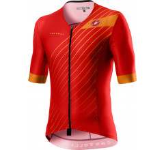 Castelli Fietsshirt Triatlon Heren Rood - CA Free Speed 2 Race Top Red/Fiery Red