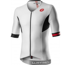 Castelli Fietsshirt Triatlon Heren Wit Zwart - CA Free Speed 2 Race Top White/Black
