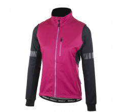 Rogelli Transition Fietsjack winter Dames Zwart Cerise Roze