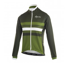 Rogelli Dot- Fietsjack winter Dames Groen Wit
