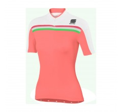 Sportful Allure W Jersey / Fietsshirt Dames Fluo Coral Wit