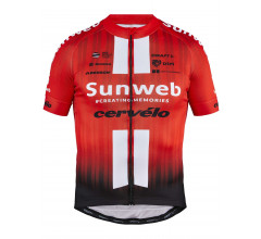 Craft Fietsshirt korte mouwen Heren Rood Wit / TEAM SUNWEB REPLICA SS JERSEY M TEAM SUNWEB RED