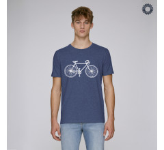 SillyScreens Casual wieler T-shirt heren medium fit Blauw  / VINTAGE RACER, Heren wieler T-shirt, Dark Heather Indigo