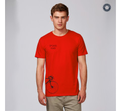 SillyScreens Casual wieler T-shirt heren Medium fit Rood  / SPOKESMAN, Heren wieler T-shirt, Bright Red