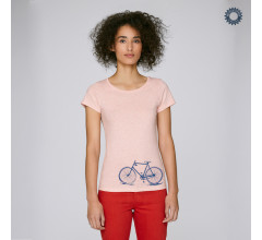 SillyScreens Casual wieler T-shirt dames Fitted Roze  / CROSSRACER, Dames wieler T-shirt, Cream Heather Pink
