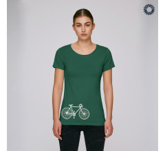 SillyScreens Casual wieler T-shirt dames Fitted Groen  / VINTAGE RACER, Dames wieler T-shirt, Bottlegreen