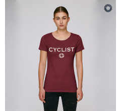 SillyScreens Casual wieler T-shirt Dames medium fit Bordeaux  / CYCLIST, Dames wieler T-shirt, Burgundy