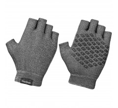 GripGrab Fietshandschoenen Zomer Unisex Antraciet - Freedom Knitted Short Finger Cycling Glove Anthracite