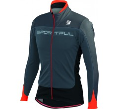 Sportful Flash SoftShell Jacket / Fietsjack Antraciet Zwart  Vuurrood