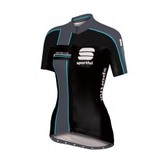 Sportful Gruppetto W Jersey / Fietsshirt Dames Black/Anthracite/Aquamarine