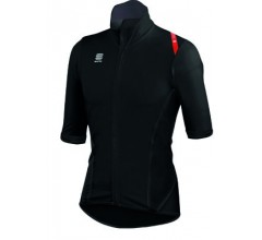 Sportful Fiandre Light NoRain Short Sleeve / Wind/regen Fietsjack korte mouwen Black/Red
