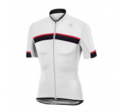 Sportful Fietsshirt korte mouwen Heren Wit Zwart / SF Pista Jersey-White/Black/Red